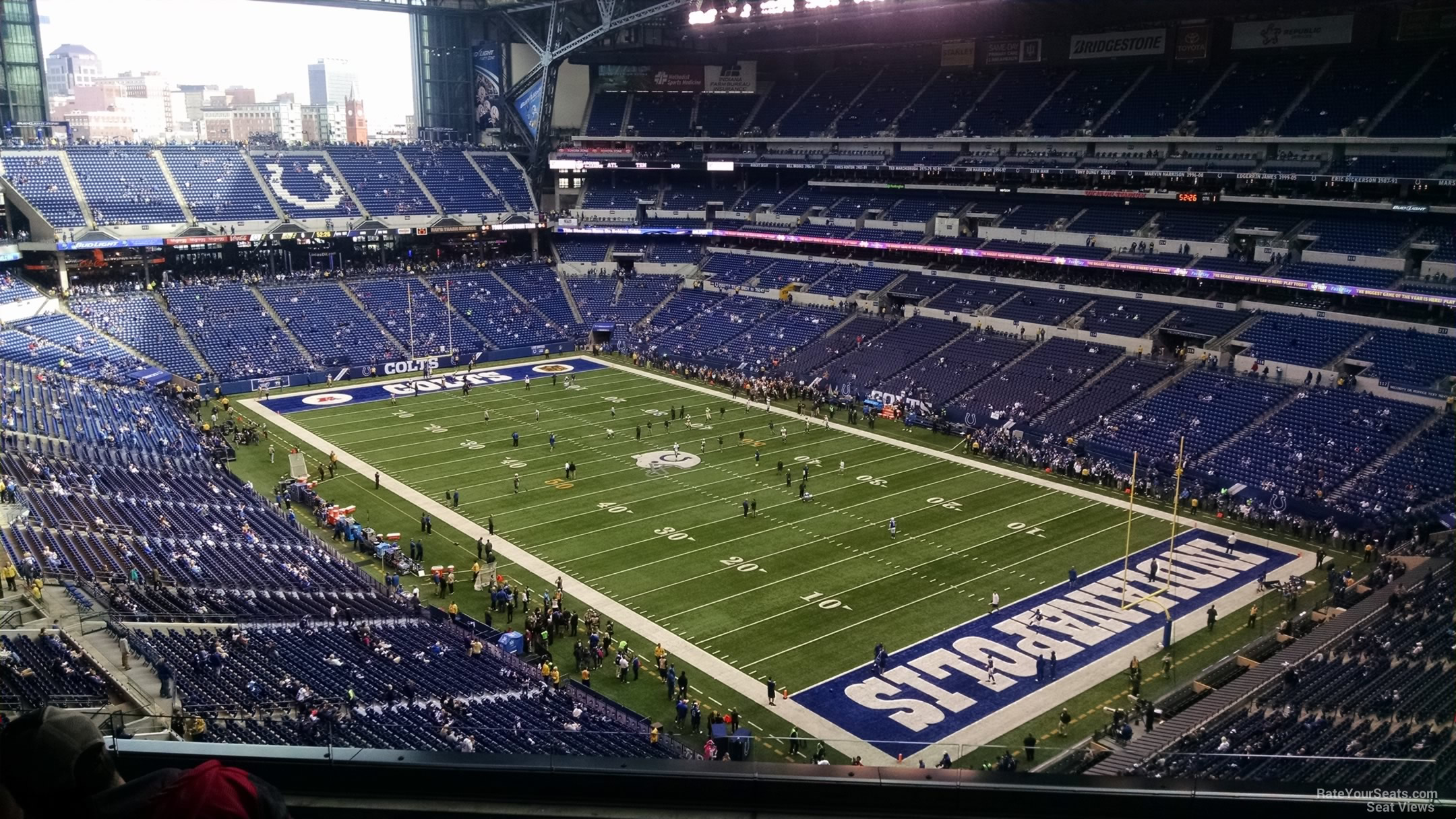 Lucas oil stadium section 533 indianapolis colts for Terrace end zone lucas oil stadium