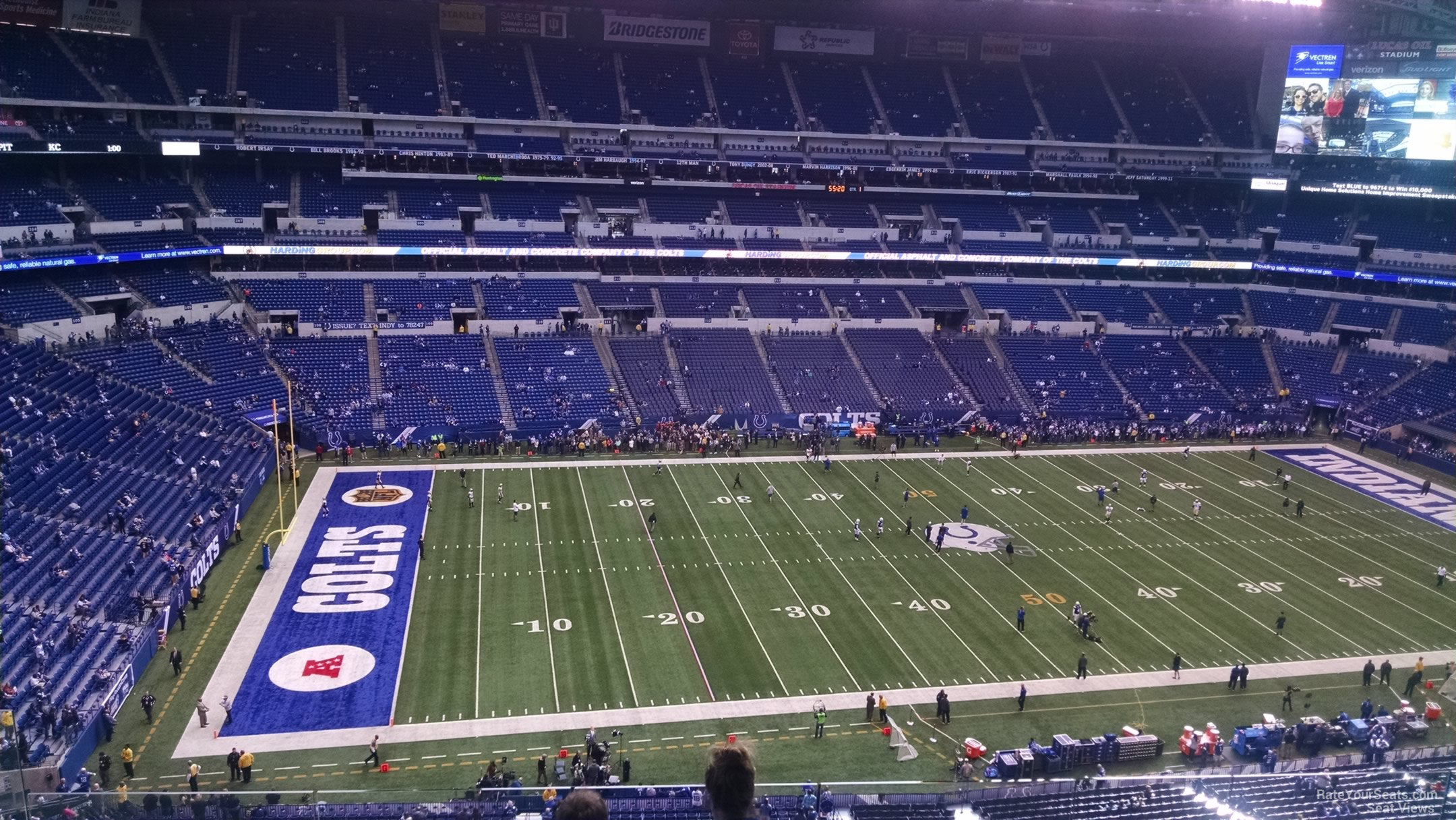 Lucas oil stadium section 543 indianapolis colts for Terrace end zone lucas oil stadium