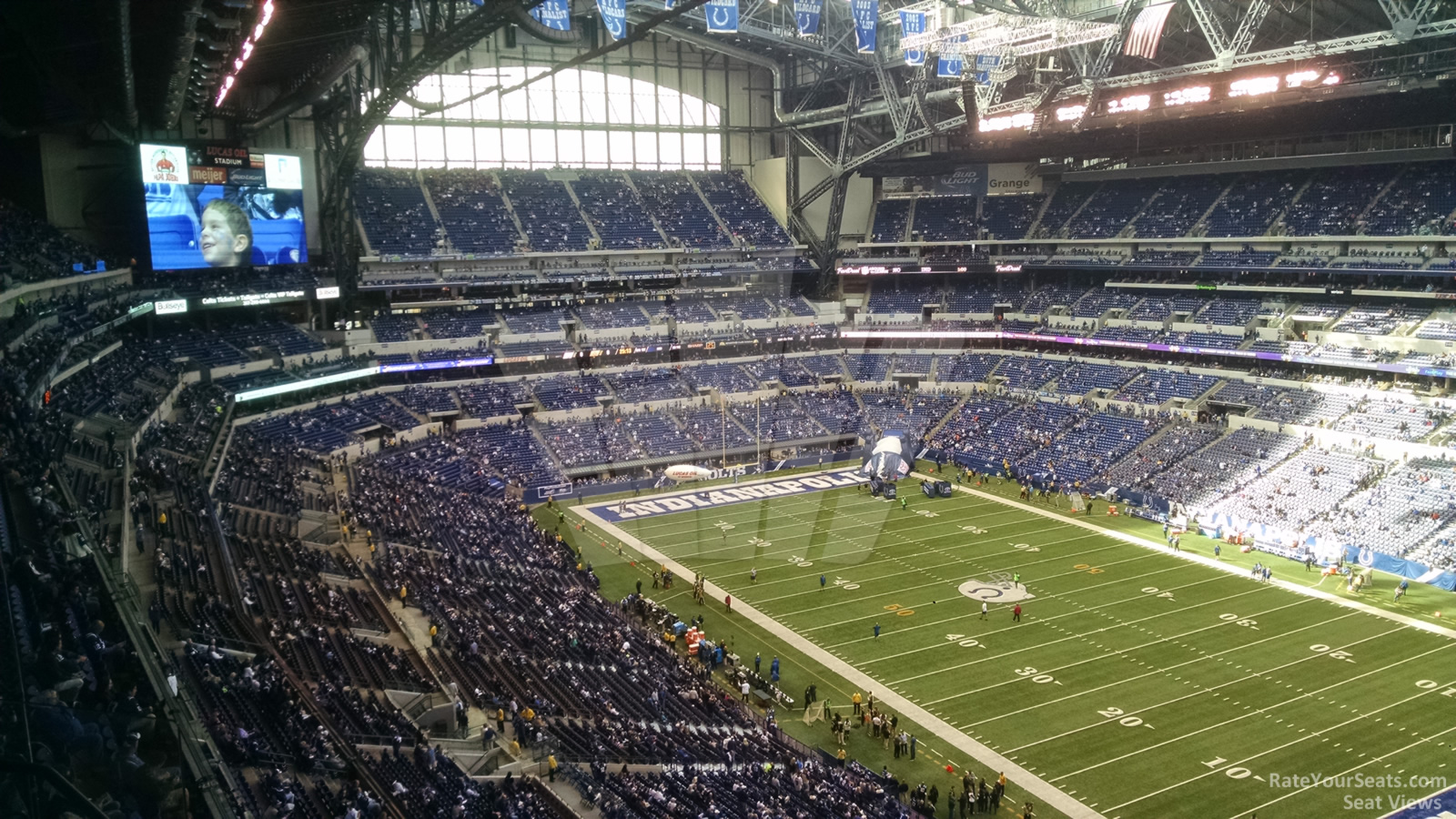 Indianapolis colts lucas oil stadium section 606 for Terrace end zone lucas oil stadium