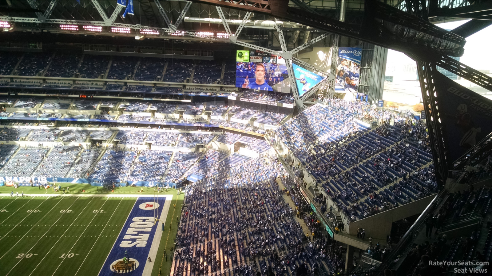 Lucas oil stadium section 608 indianapolis colts for Terrace end zone lucas oil stadium