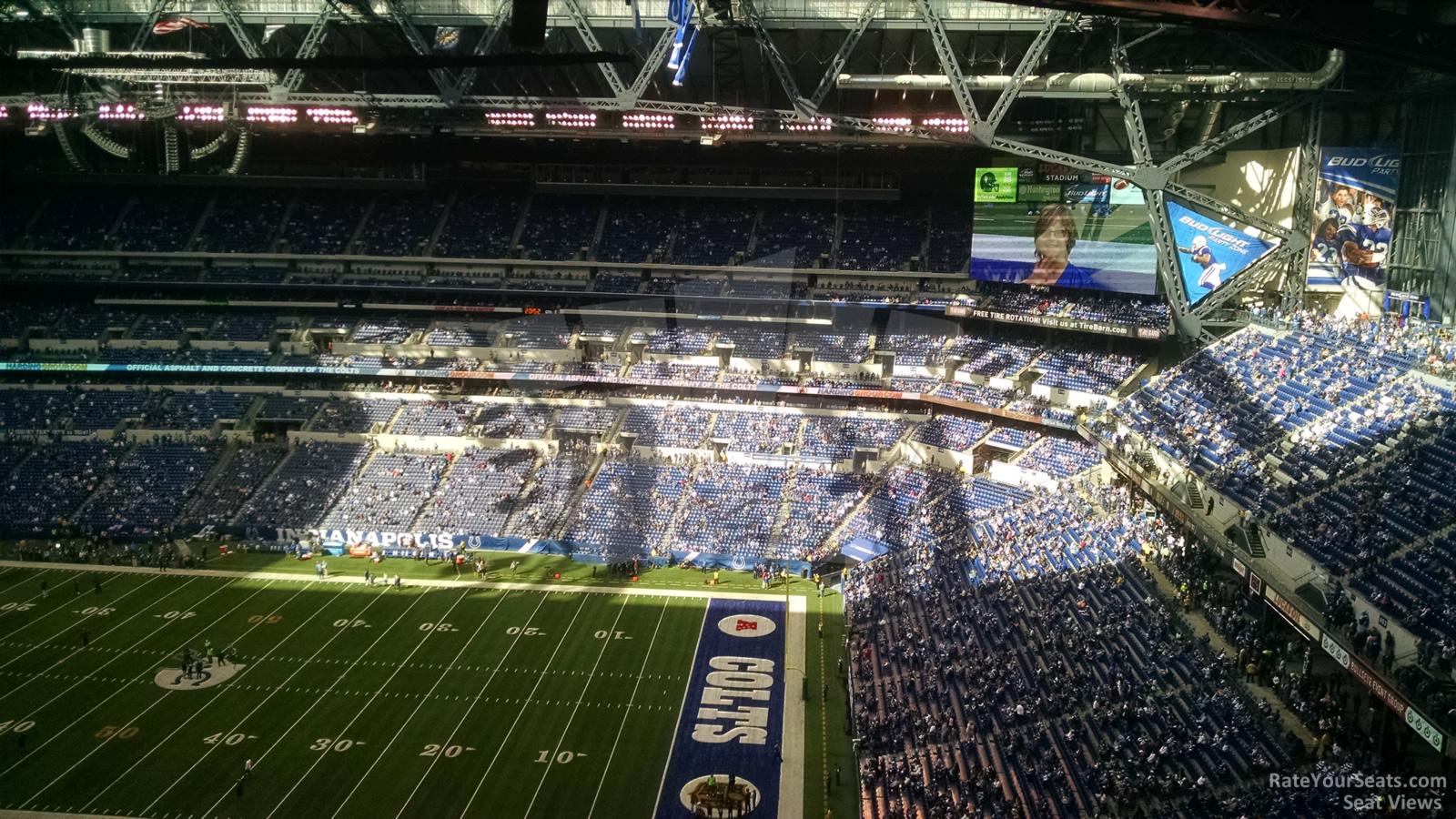 Lucas oil stadium section 609 indianapolis colts for Terrace end zone lucas oil stadium