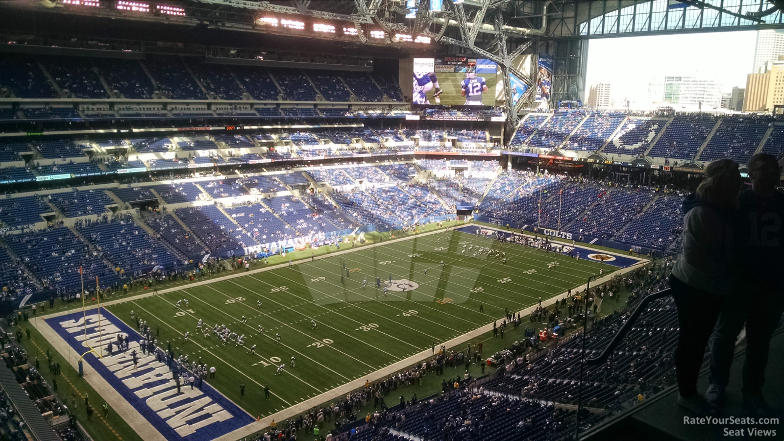 Indianapolis colts lucas oil stadium section 619 for Terrace end zone lucas oil stadium