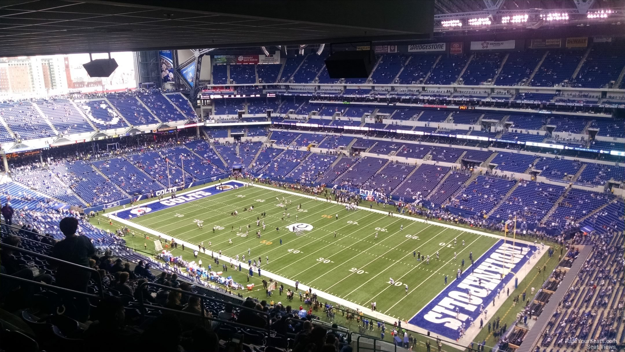 Lucas oil stadium section 634 indianapolis colts for Terrace end zone lucas oil stadium
