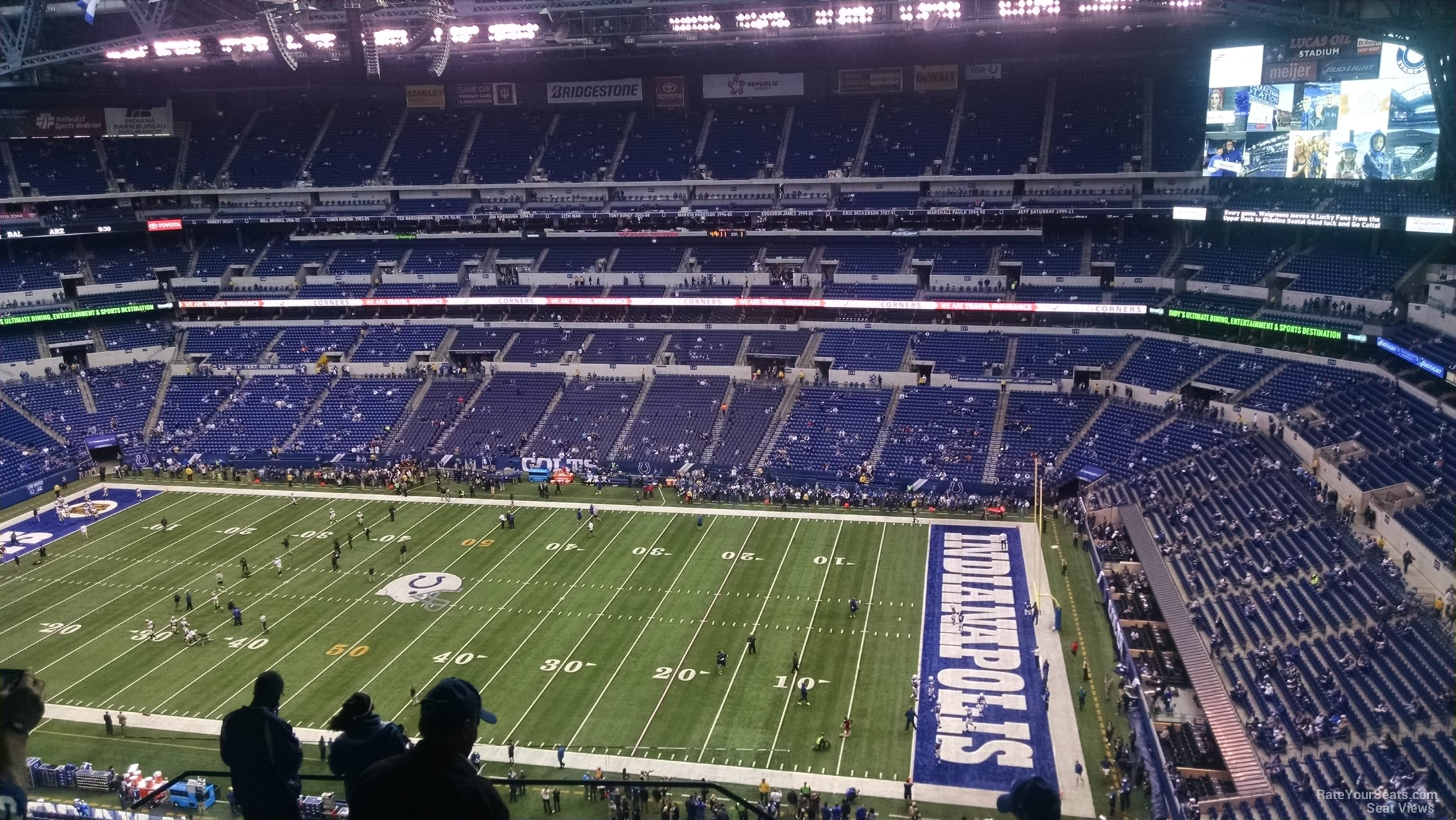 Lucas oil stadium section 636 indianapolis colts for Terrace end zone lucas oil stadium
