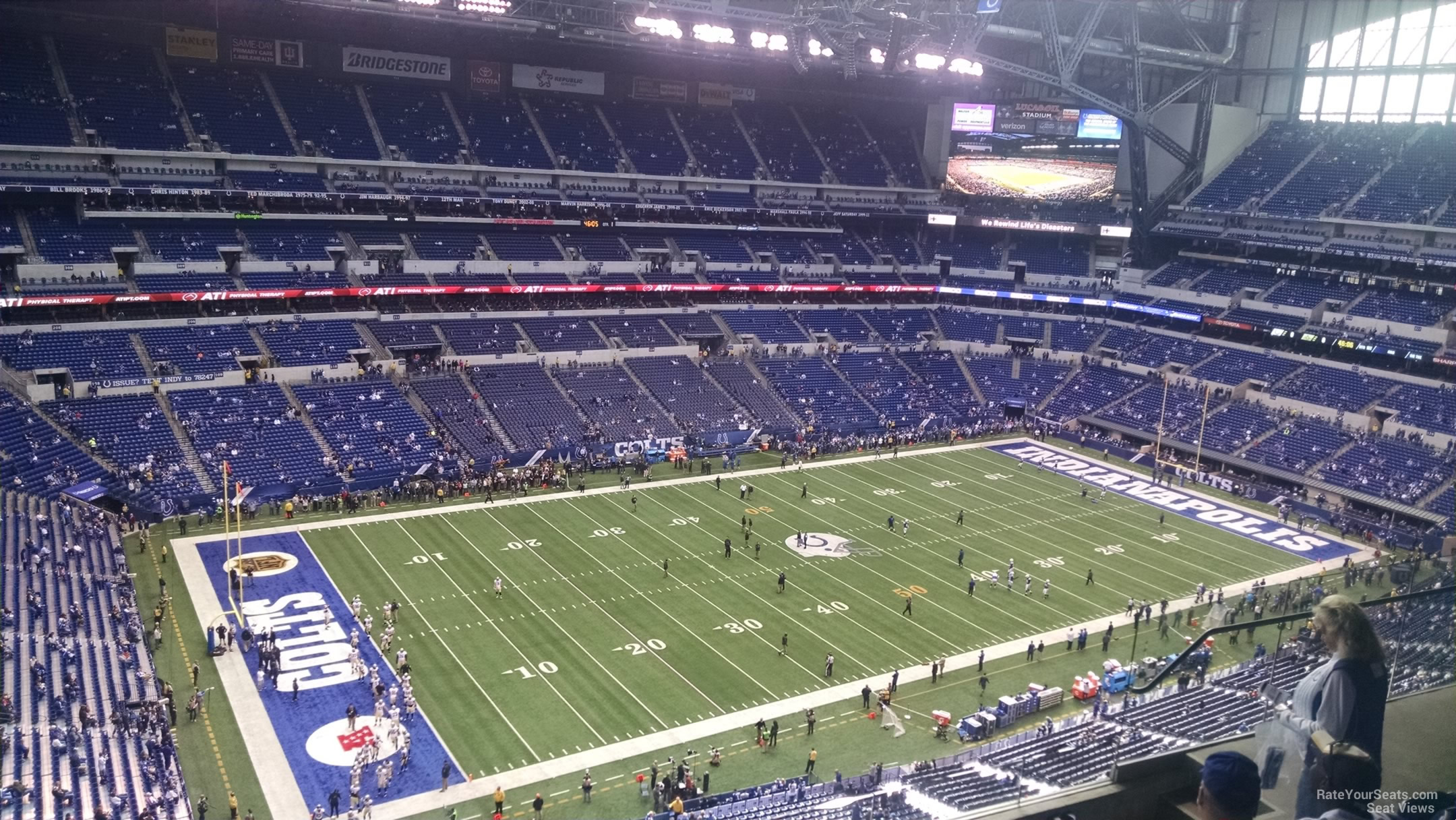 Lucas oil stadium section 646 indianapolis colts for Terrace end zone lucas oil stadium