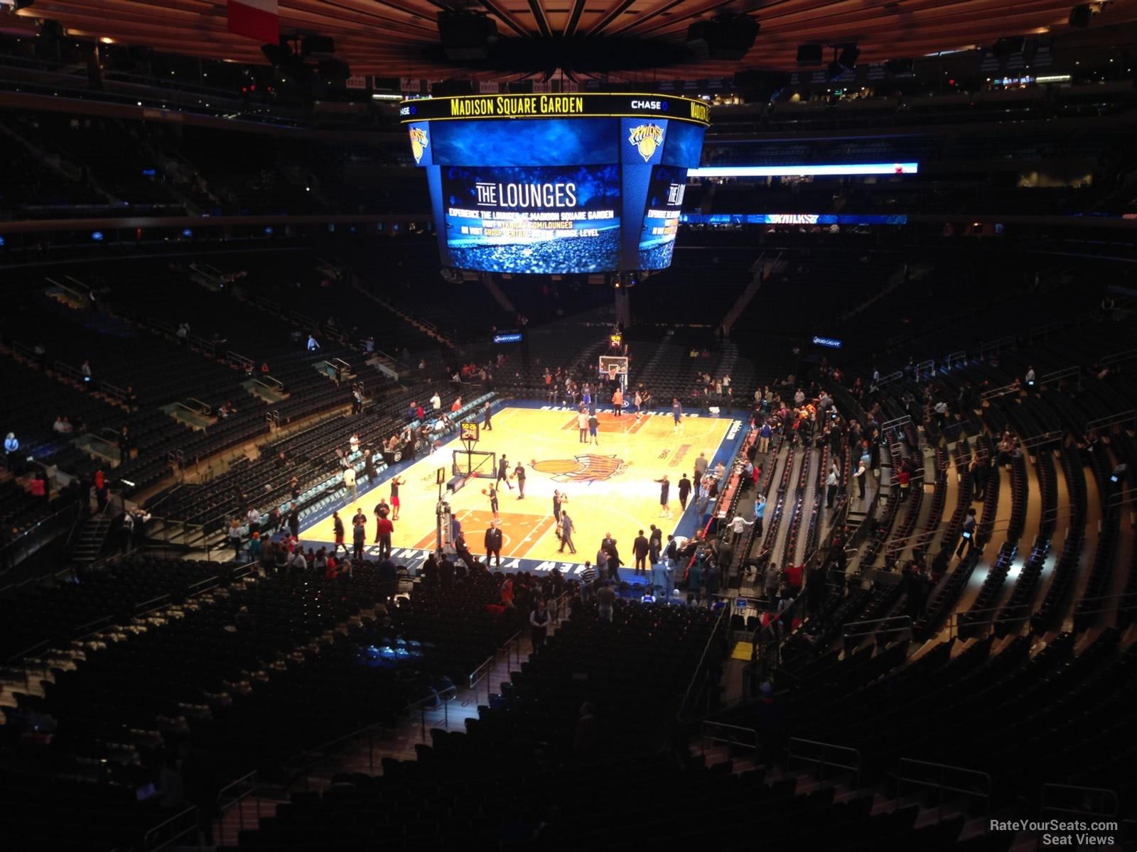 Madison Square Garden Section 205 New York Knicks
