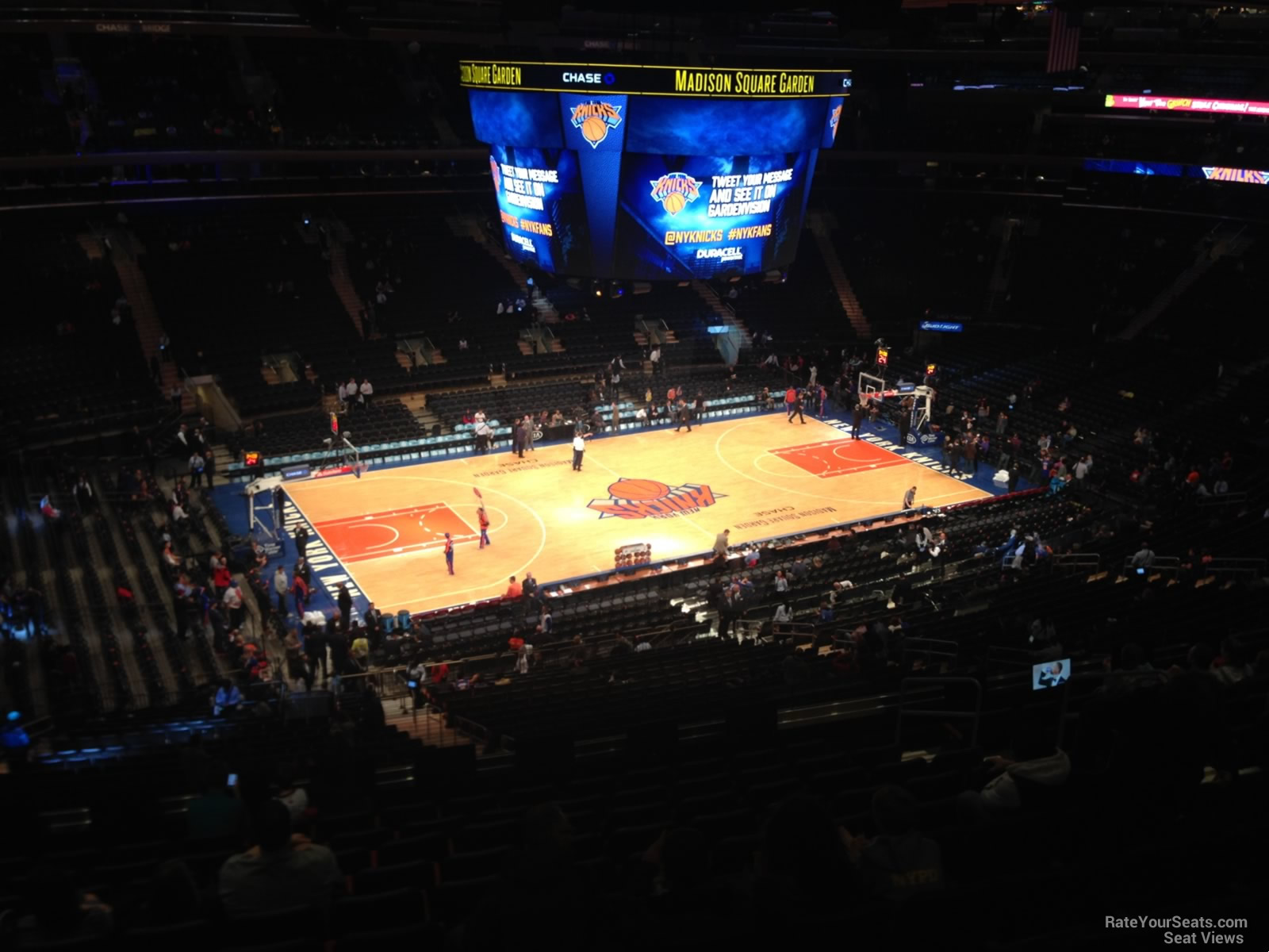 Madison Square Garden Section 209 New York Knicks