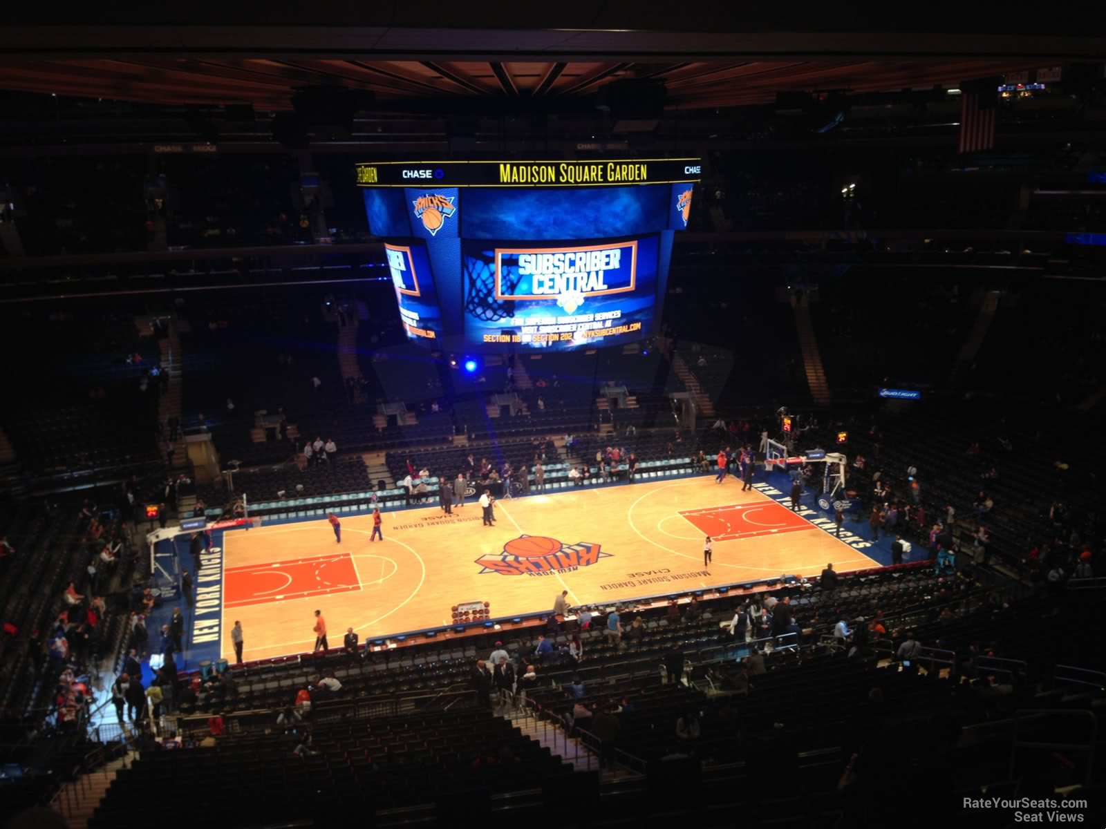 Madison Square Garden Section 210 New York Knicks