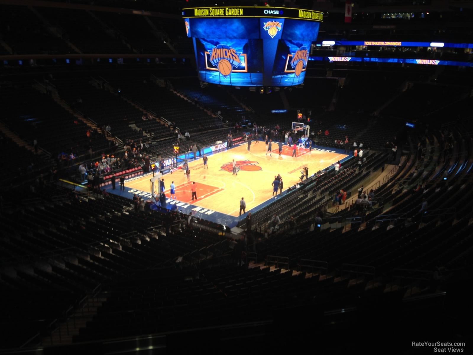 Madison Square Garden Section 220 New York Knicks