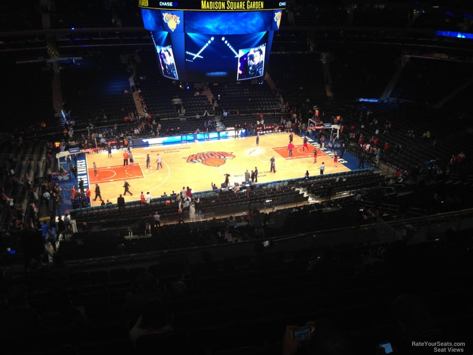 200 Level Center Madison Square Garden Basketball Seating