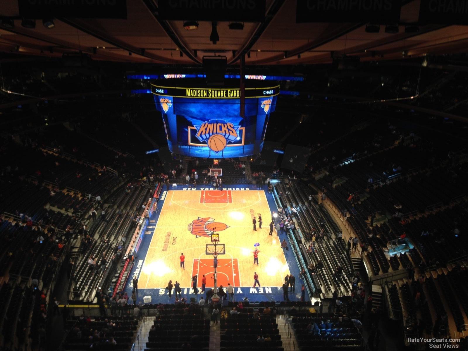 Madison Square Garden Section 320 New York Knicks
