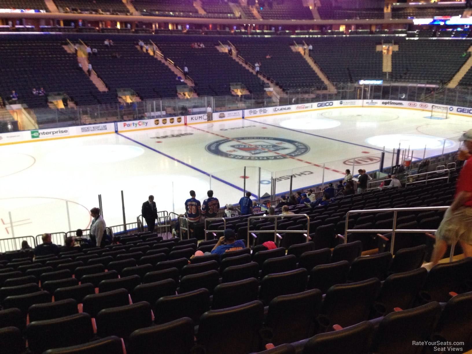Madison Square Garden Section 105 New York Rangers