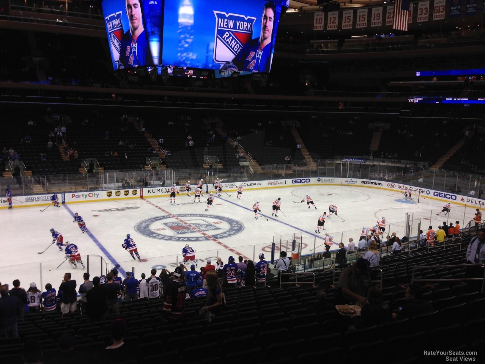 Madison Square Garden Section 106 New York Rangers