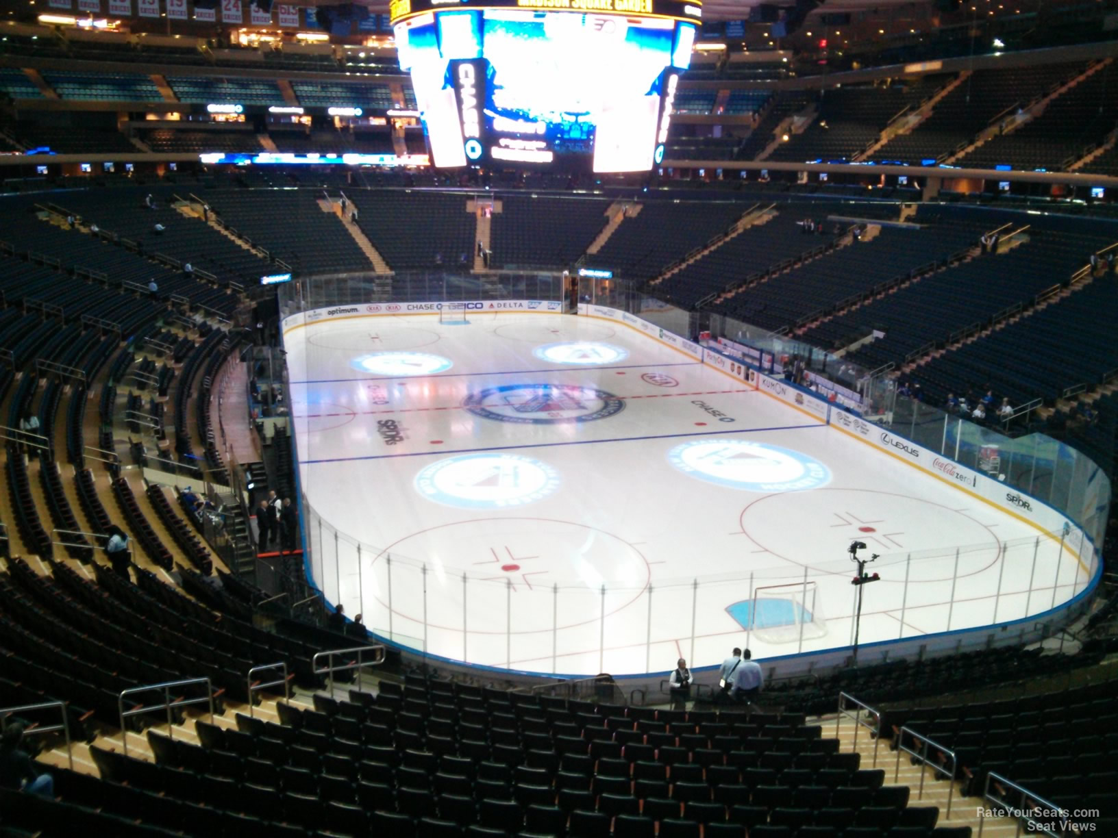 200 Level Behind The Net Madison Square Garden Hockey Seating