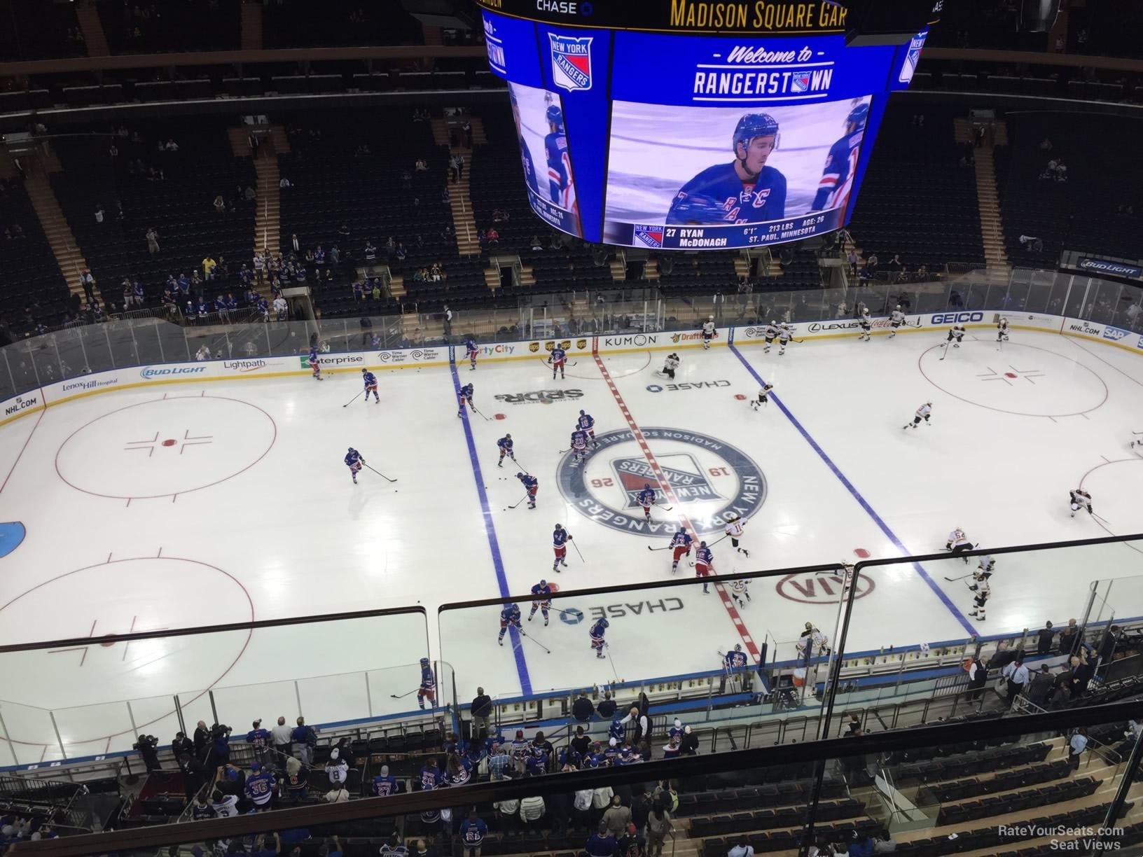 Madison Square Garden Section 312 New York Rangers