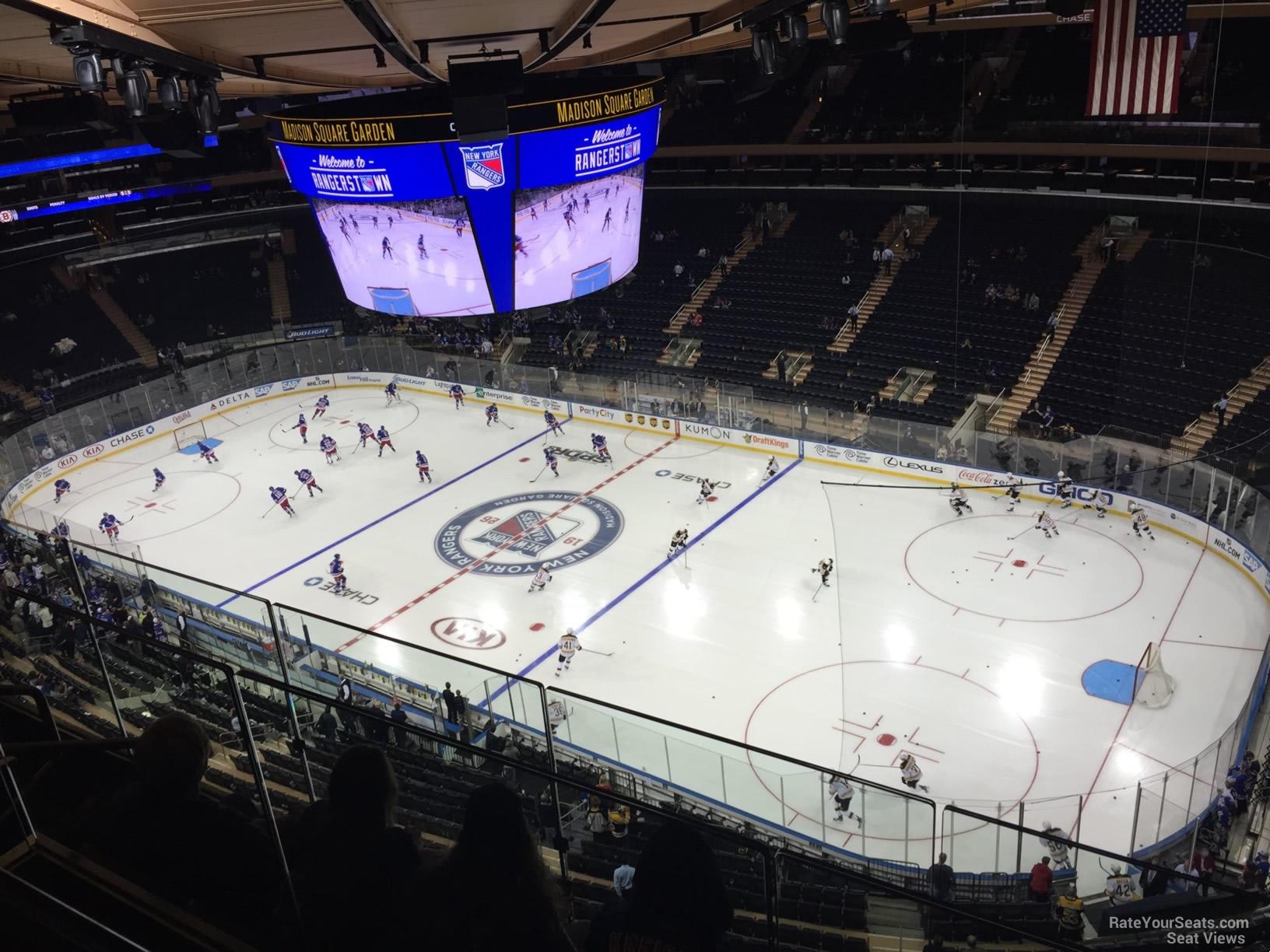 Chase Bridges Madison Square Garden Hockey Seating