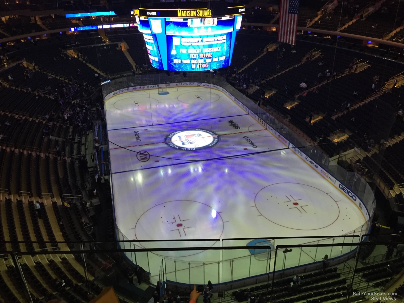 Madison Square Garden Section 319 New York Rangers
