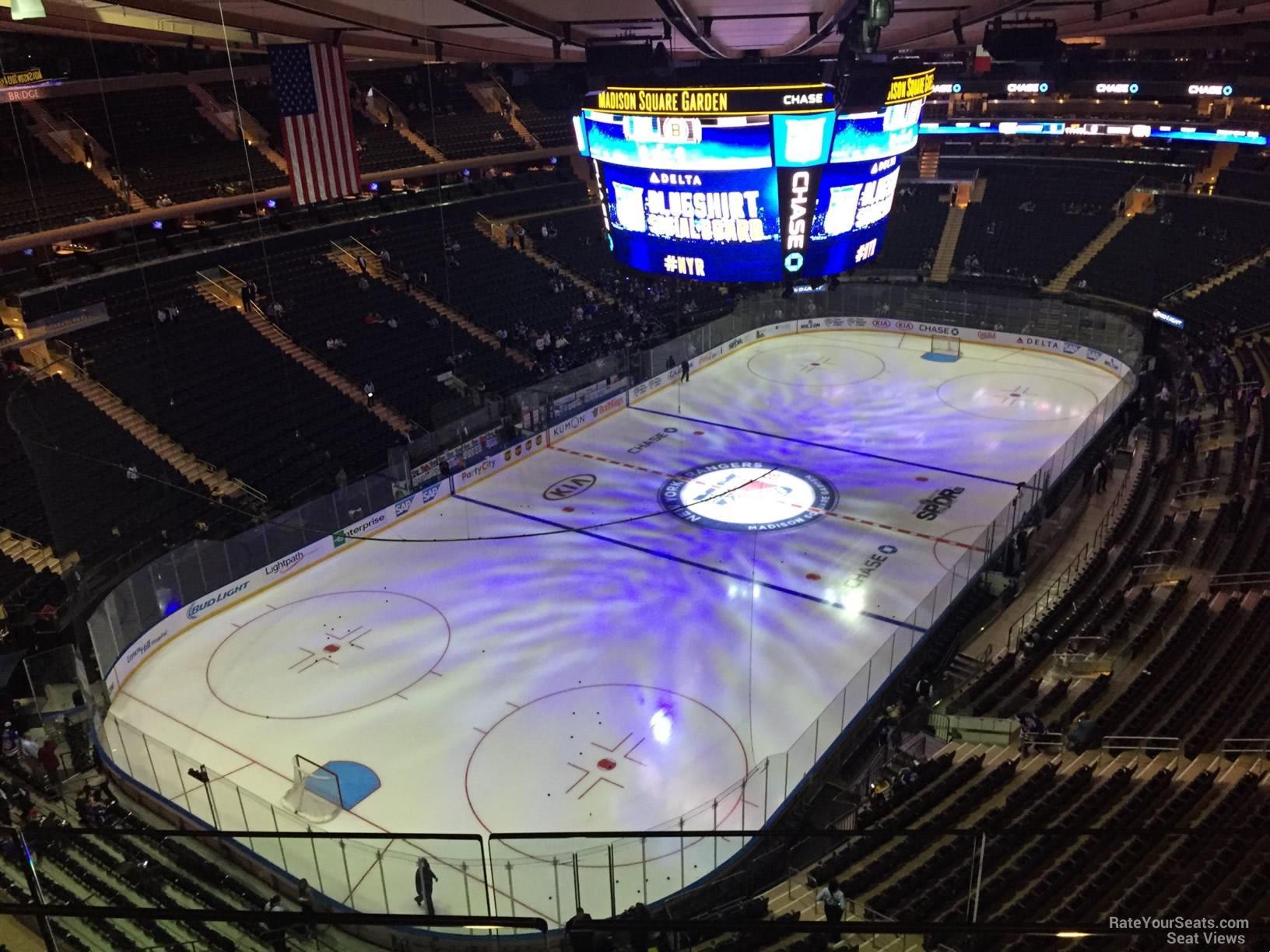Madison Square Garden Section 322 New York Rangers
