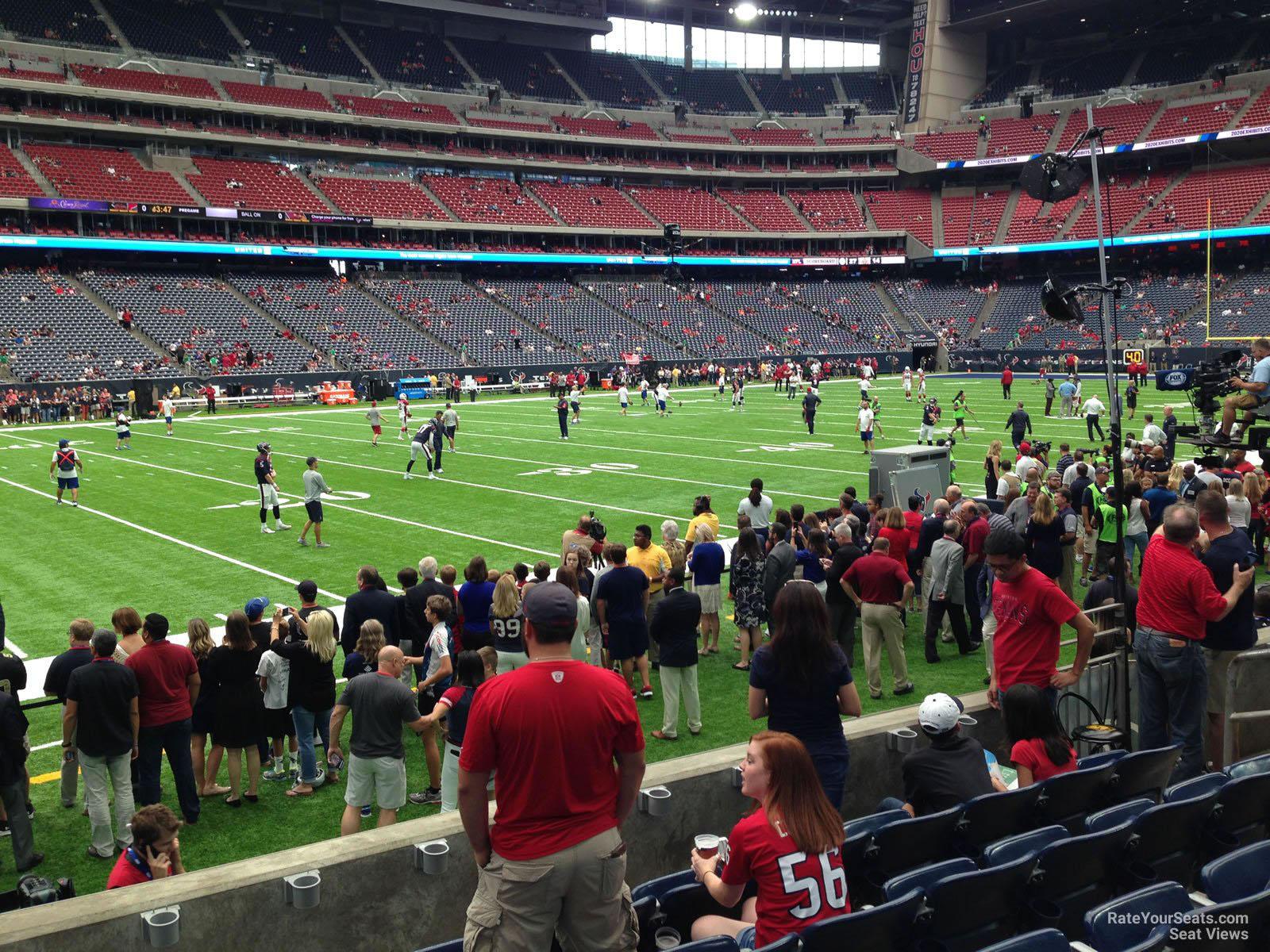 Field Level Sideline Nrg Stadium Football Seating
