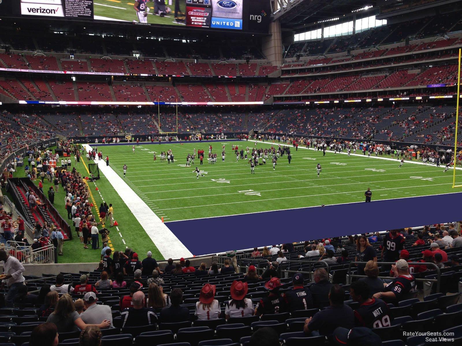 Nrg Stadium Section 119 Houston Texans Rateyourseats Com