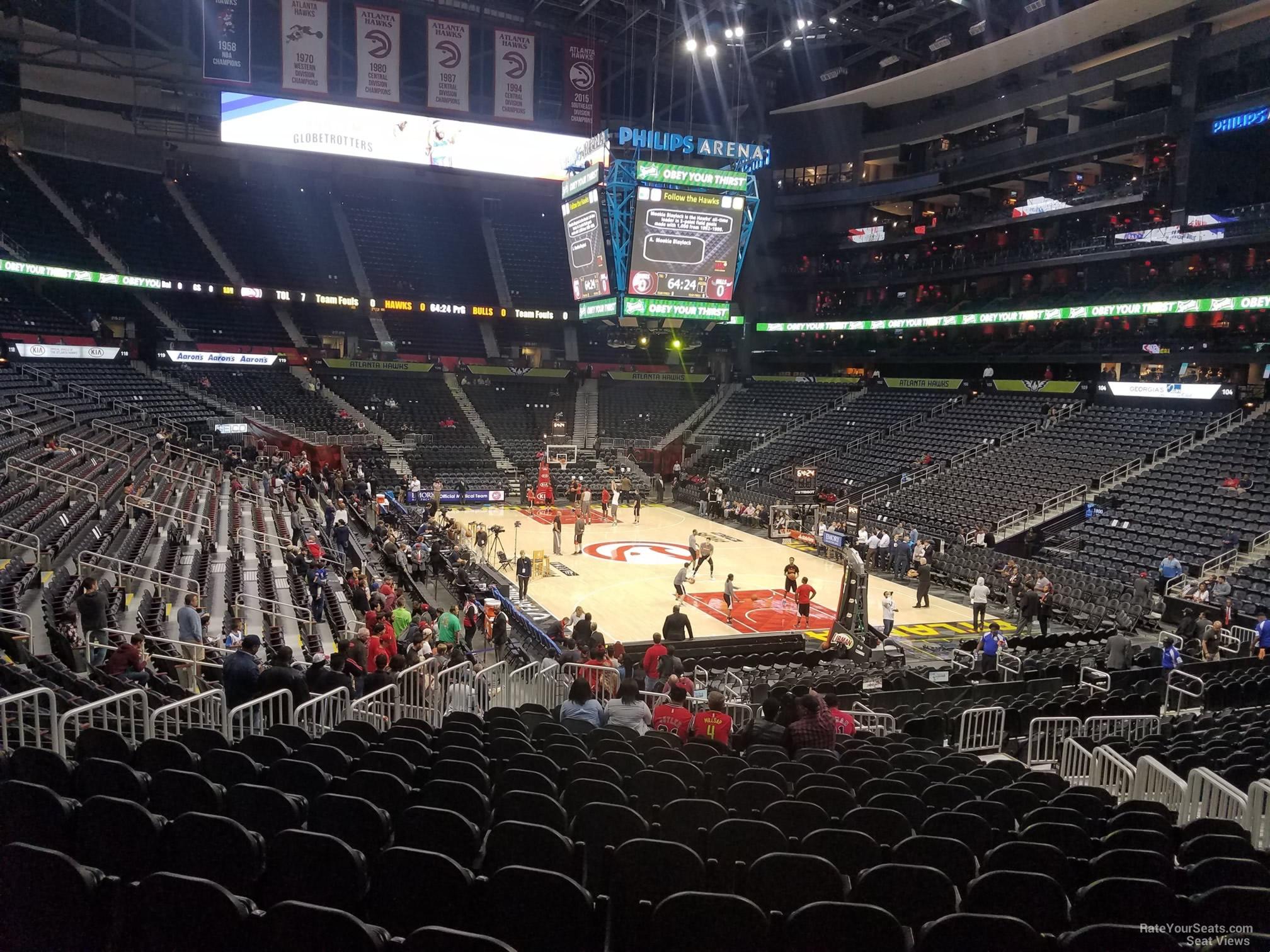 Philips Arena Section 111 Atlanta Hawks Rateyourseats Com