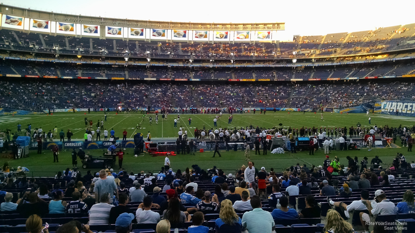 San Diego Chargers Seating Guide Qualcomm Stadium