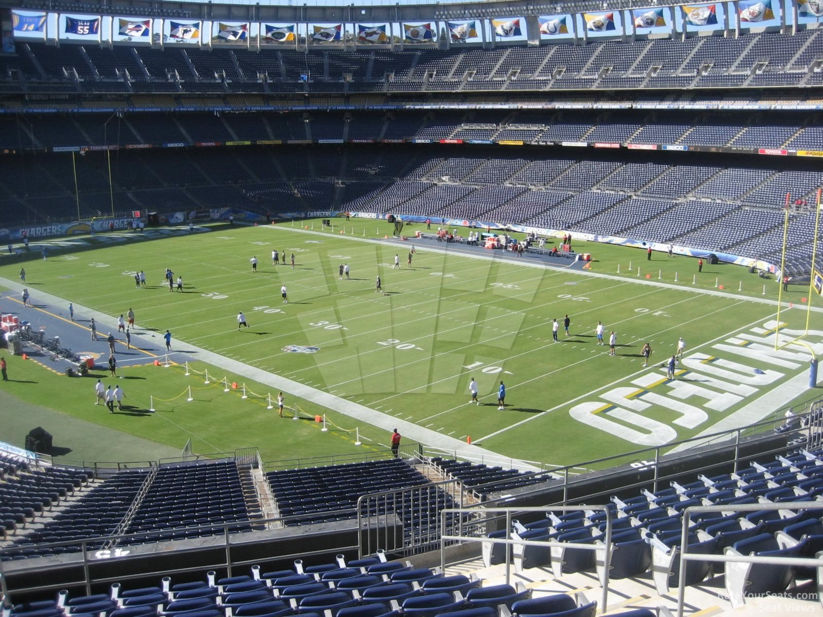 Loge Endzone Qualcomm Stadium Football Seating