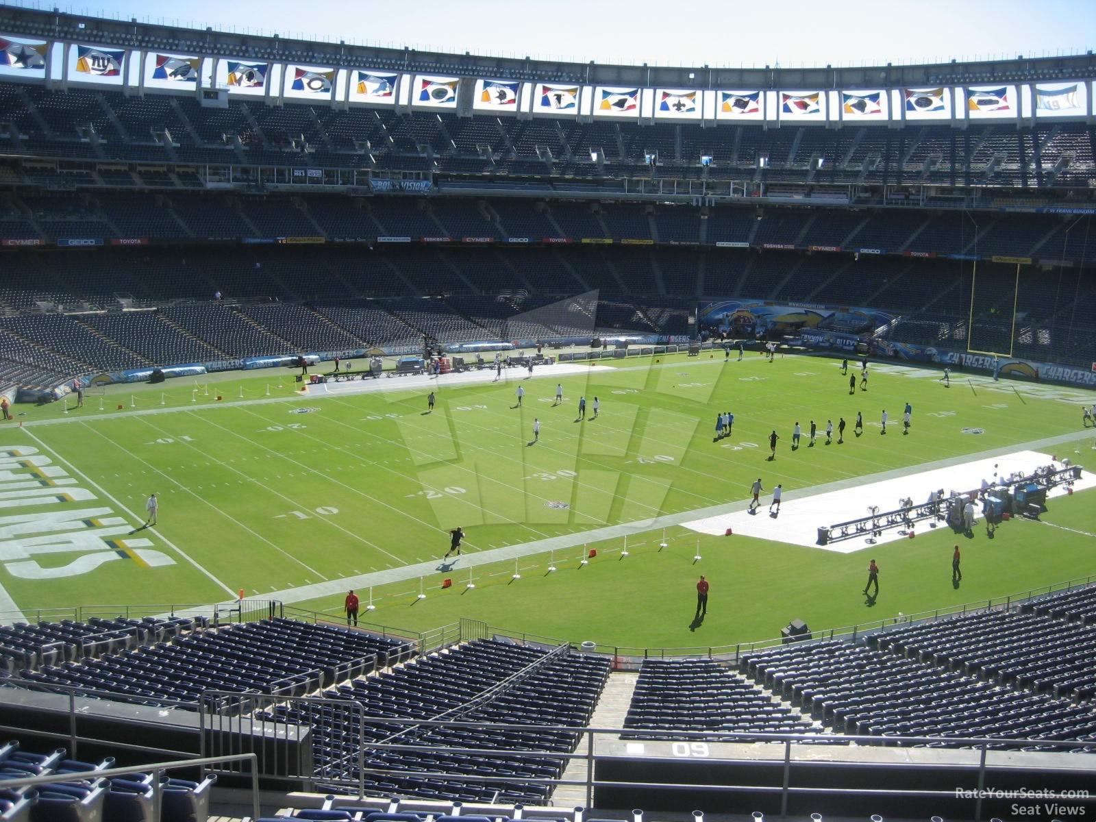 Qualcomm stadium seating pictures