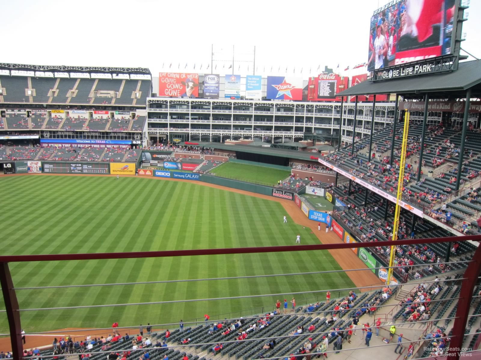 Third Row Seating >> Globe Life Park Section 338 - RateYourSeats.com