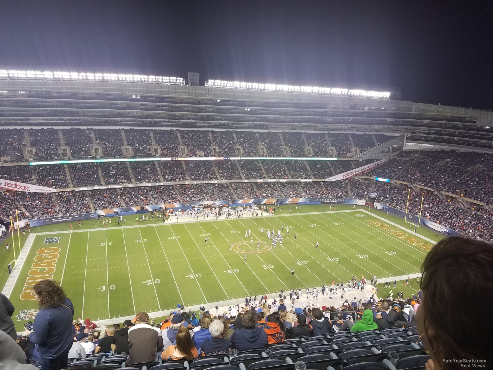 soldier field section 440 chicago bears rateyourseatscom
