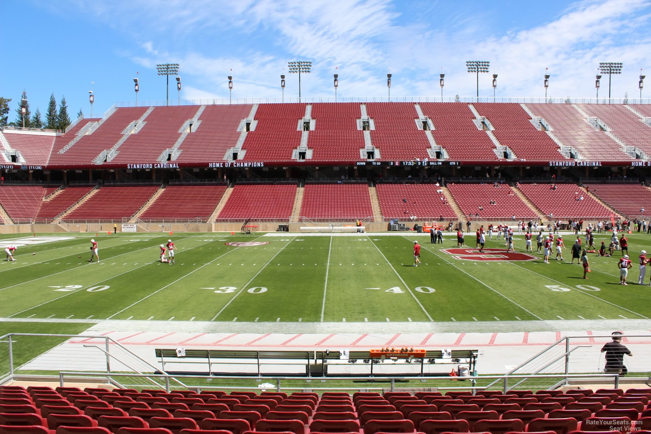 Lower Level Center Stanford Stadium Football Seating