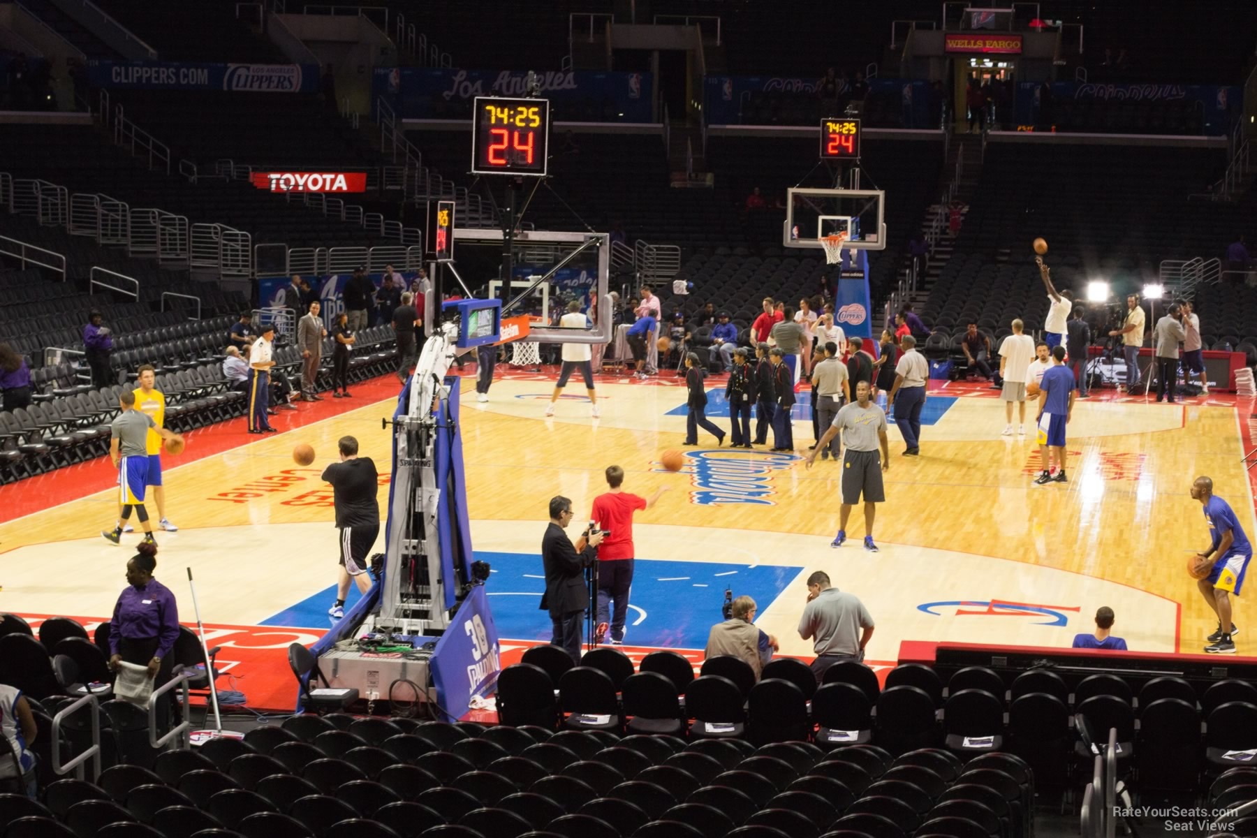 Staples Center Section 106 Clippers Lakers