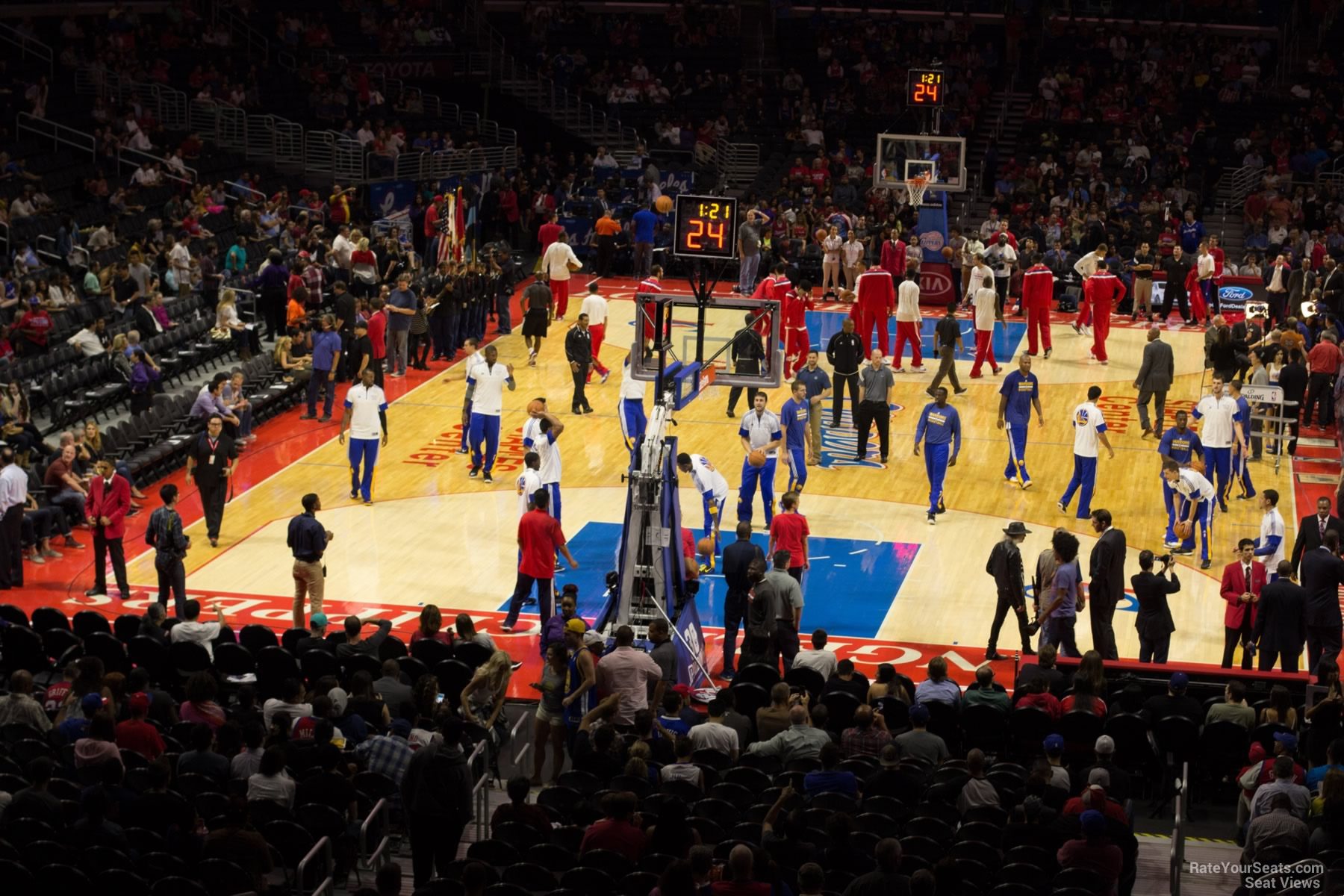 Staples Center Section 207 Clippers Lakers