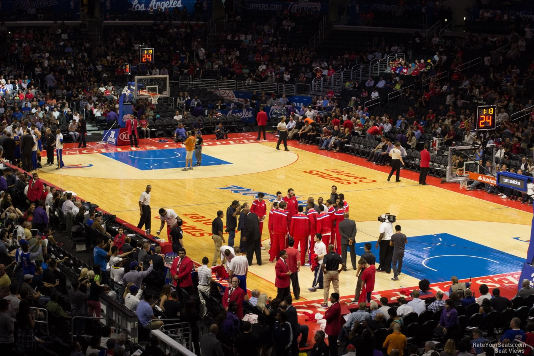 Staples Center Section 219 Clippers Lakers