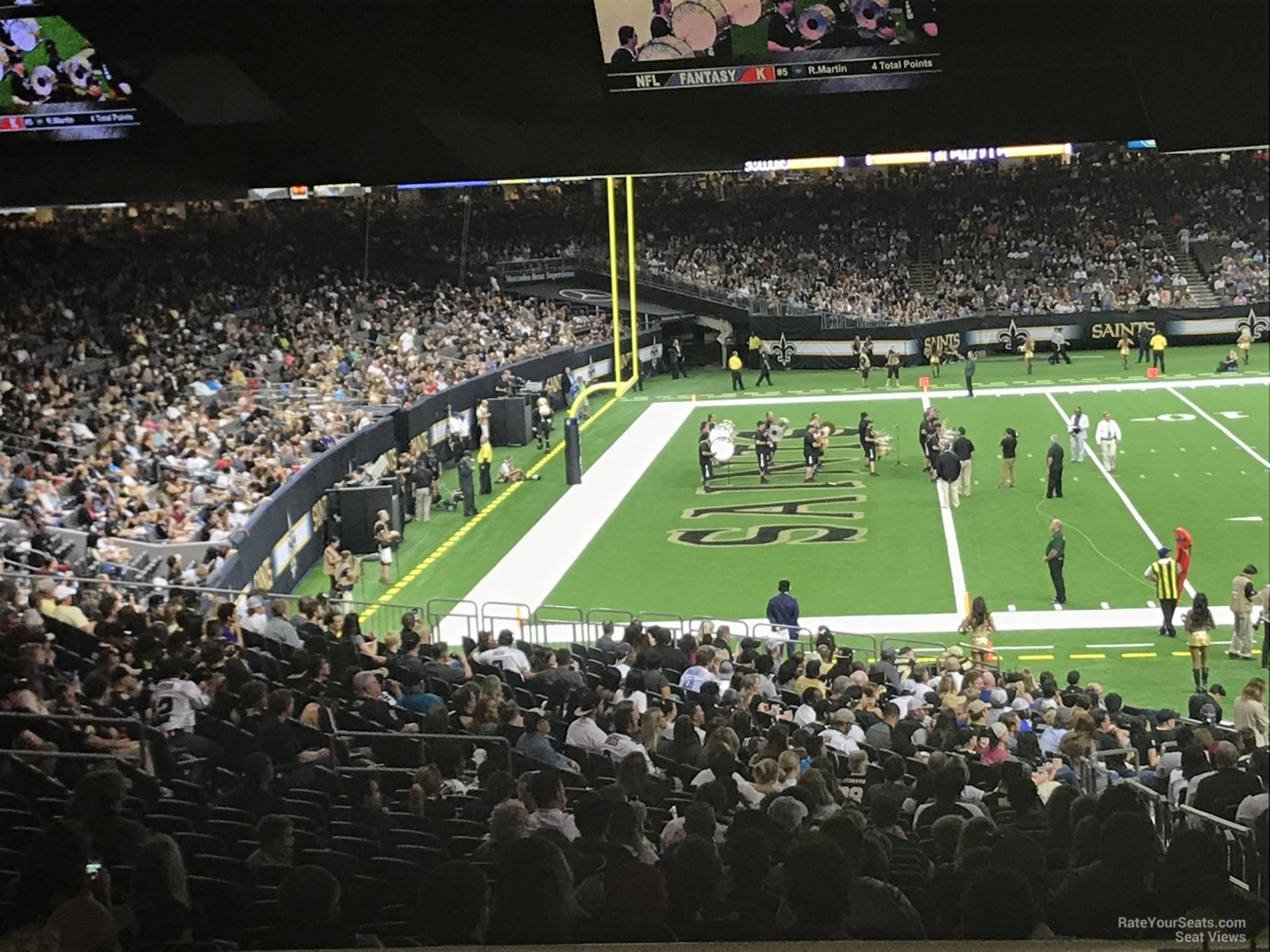 Superdome section 147 new orleans saints for Mercedes benz superdome club level seating