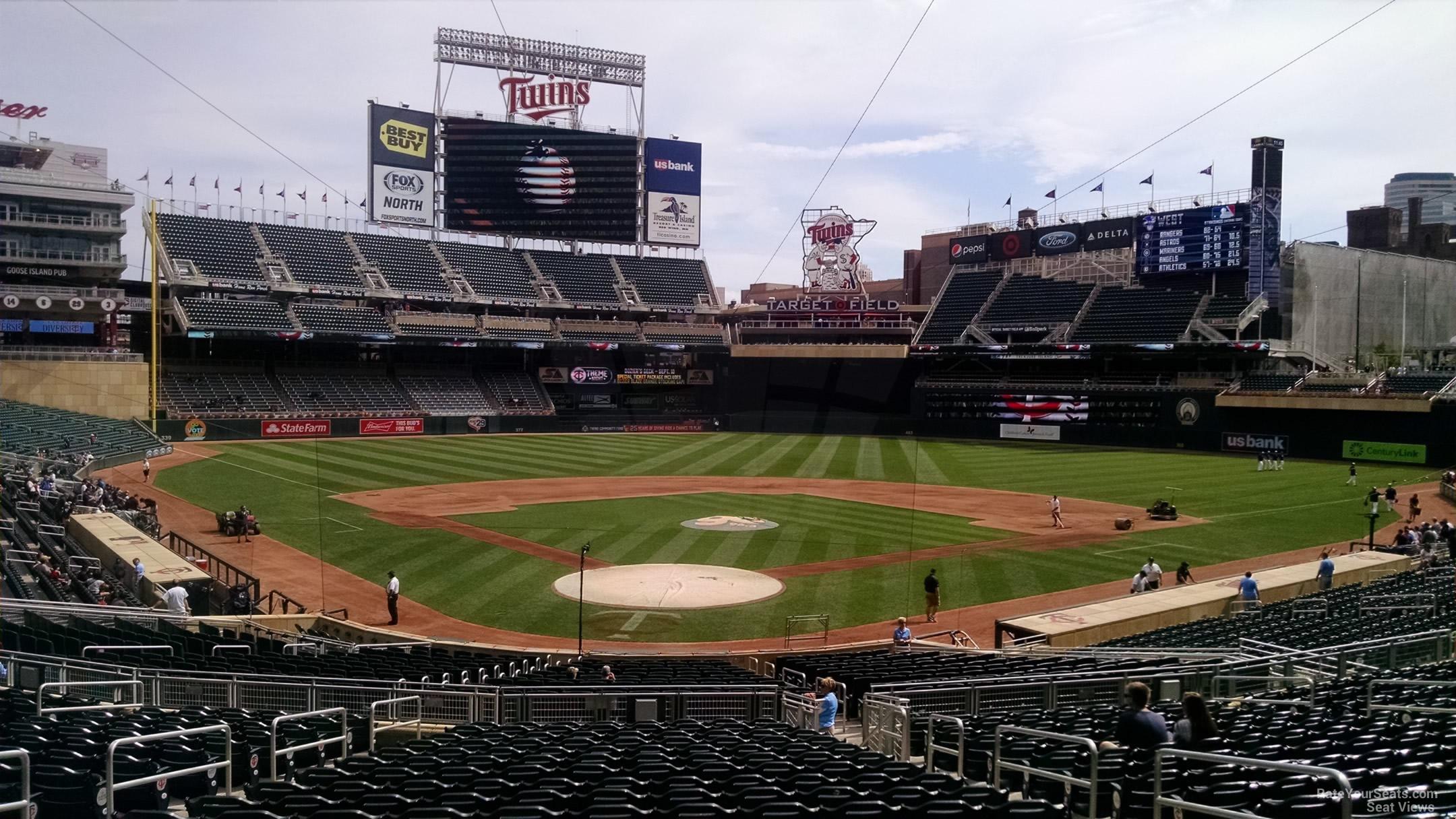 Target Field Section 113 - RateYourSeats.com