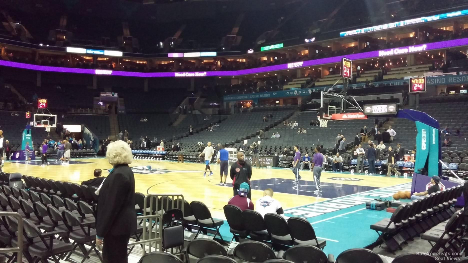 Spectrum Center Section 112 Charlotte Hornets