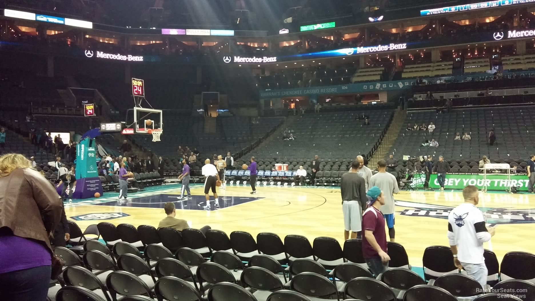 Spectrum Center Section 114 Charlotte Hornets