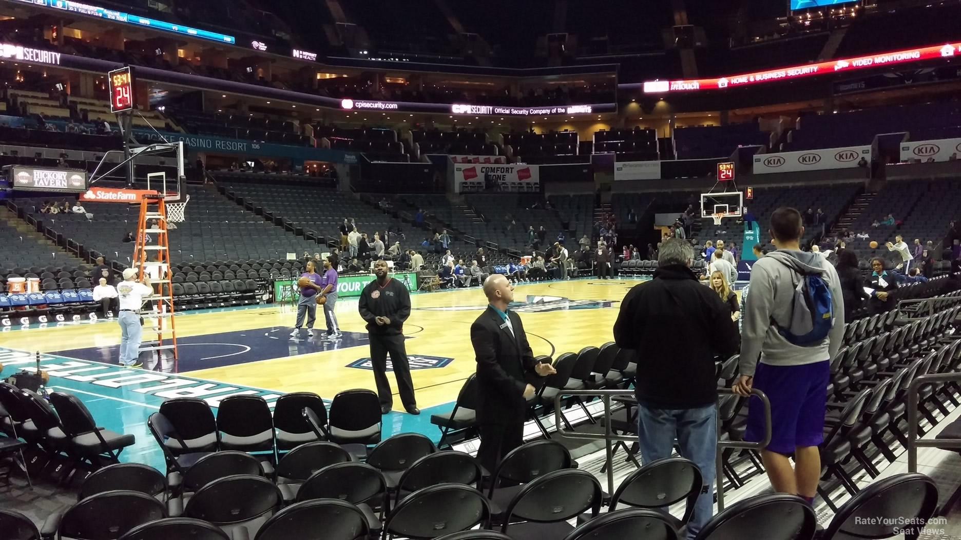 Spectrum Center Section 116 Charlotte Hornets