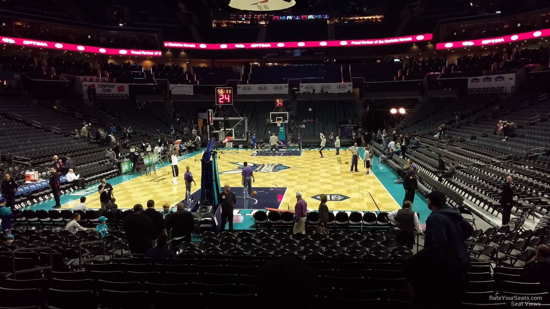 Spectrum Center Section 117 Charlotte Hornets