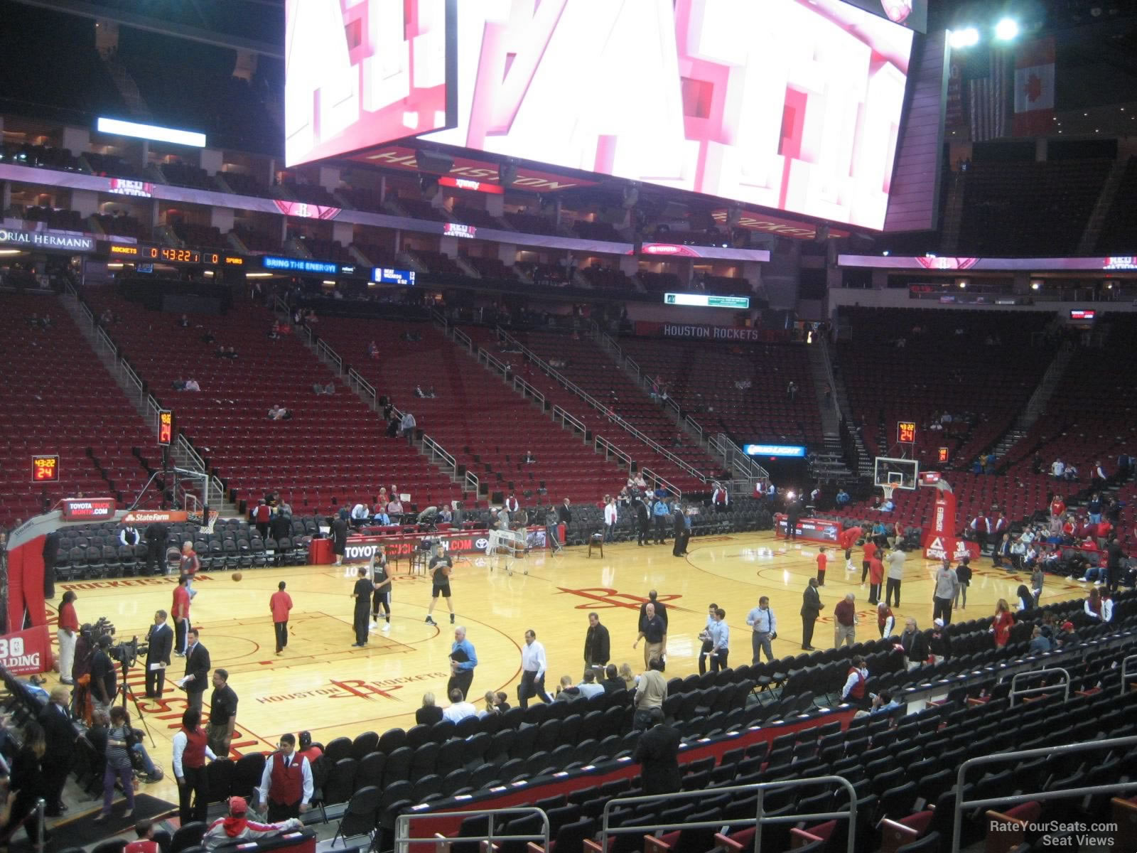 Toyota Center Section 110 - Houston Rockets ...