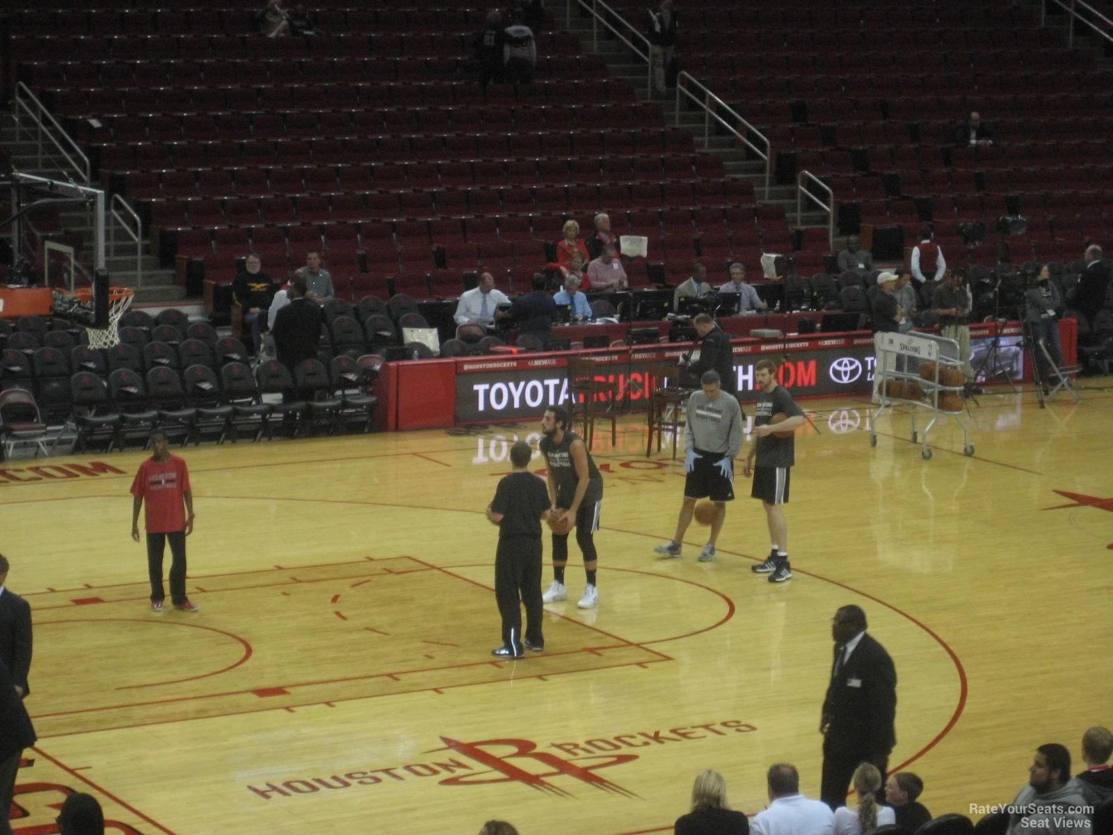 Toyota Center Section 110 - Houston Rockets ...