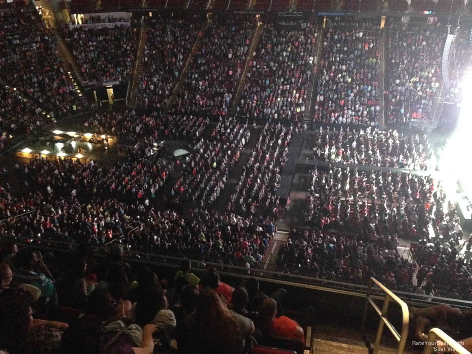 Toyota Center Section 409 Concert Seating