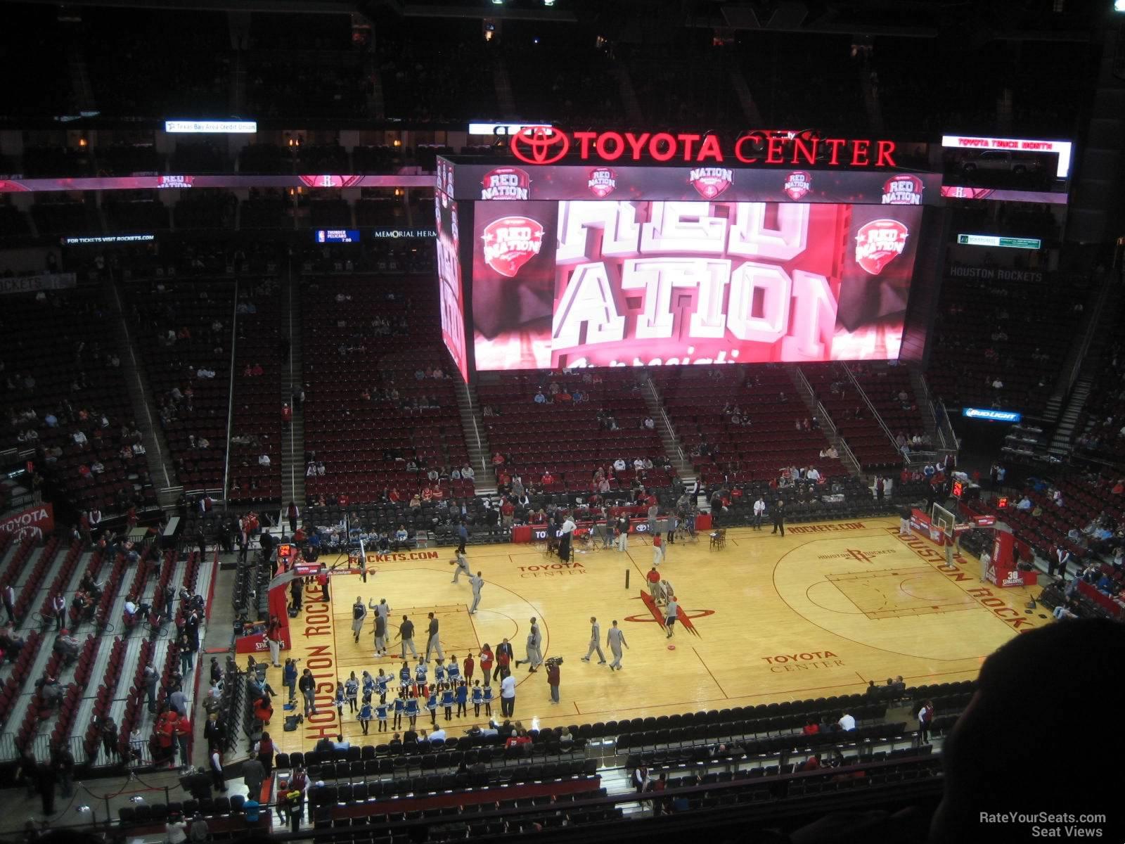 400 Level Center Toyota Center Basketball Seating