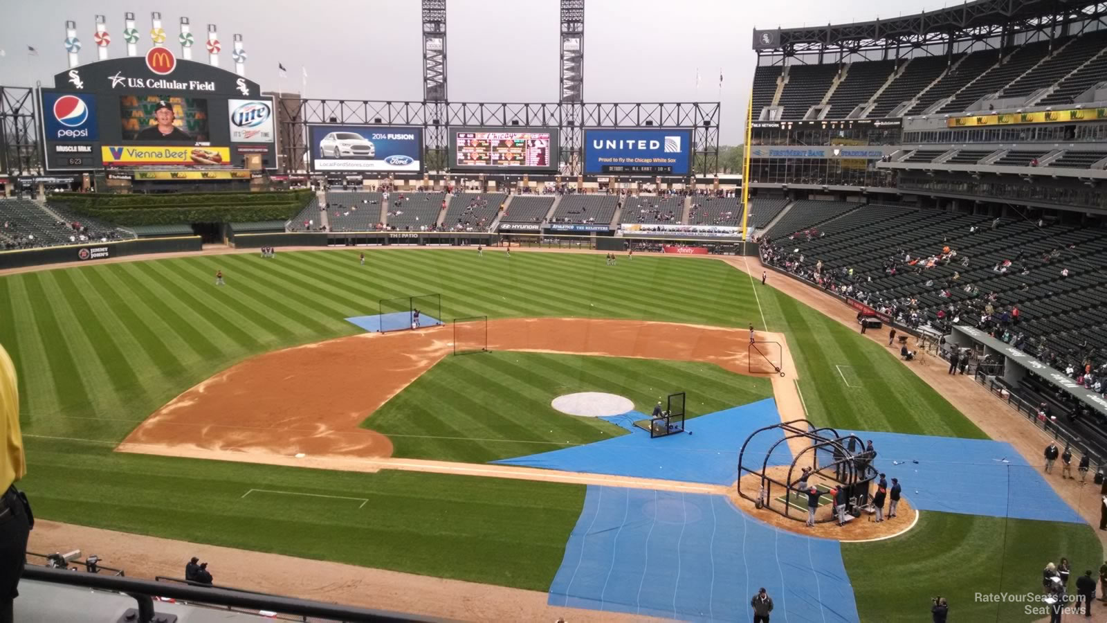 U.S. Cellular Field Section 336 Seat View: Row 3