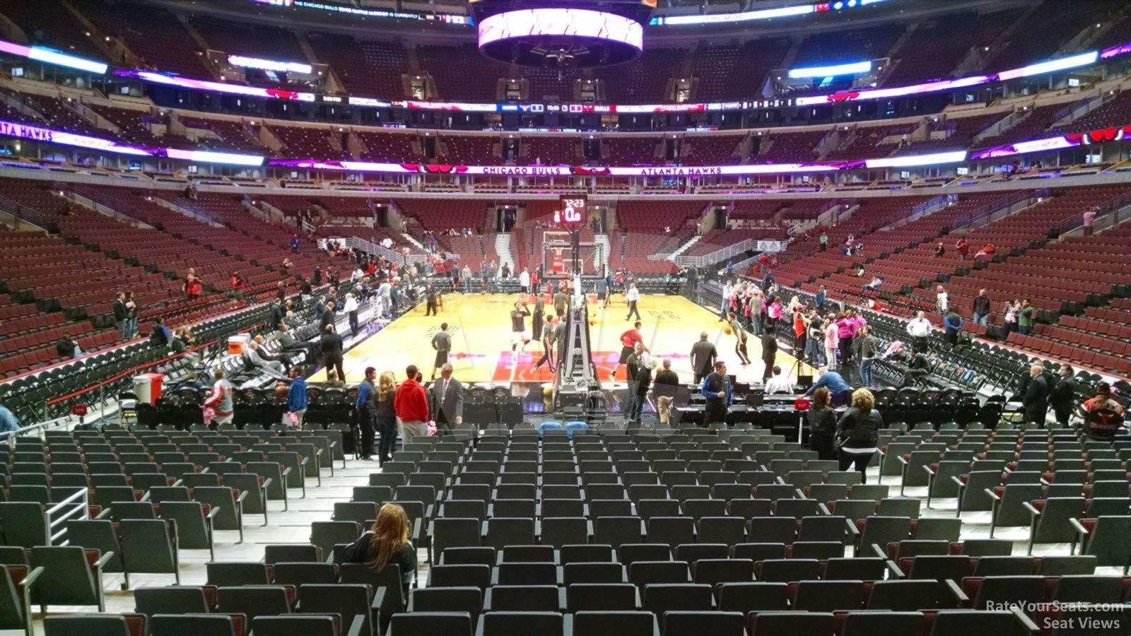 Lower Level Baseline United Center Basketball Seating