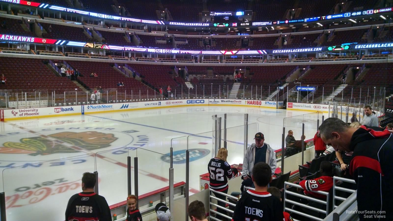 100 Level Center - United Center Hockey Seating ...