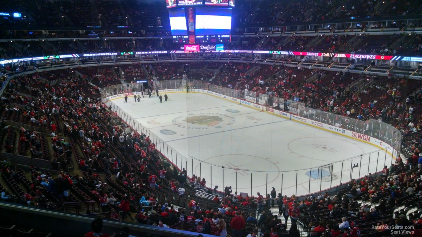 Club Level Corner United Center Hockey Seating