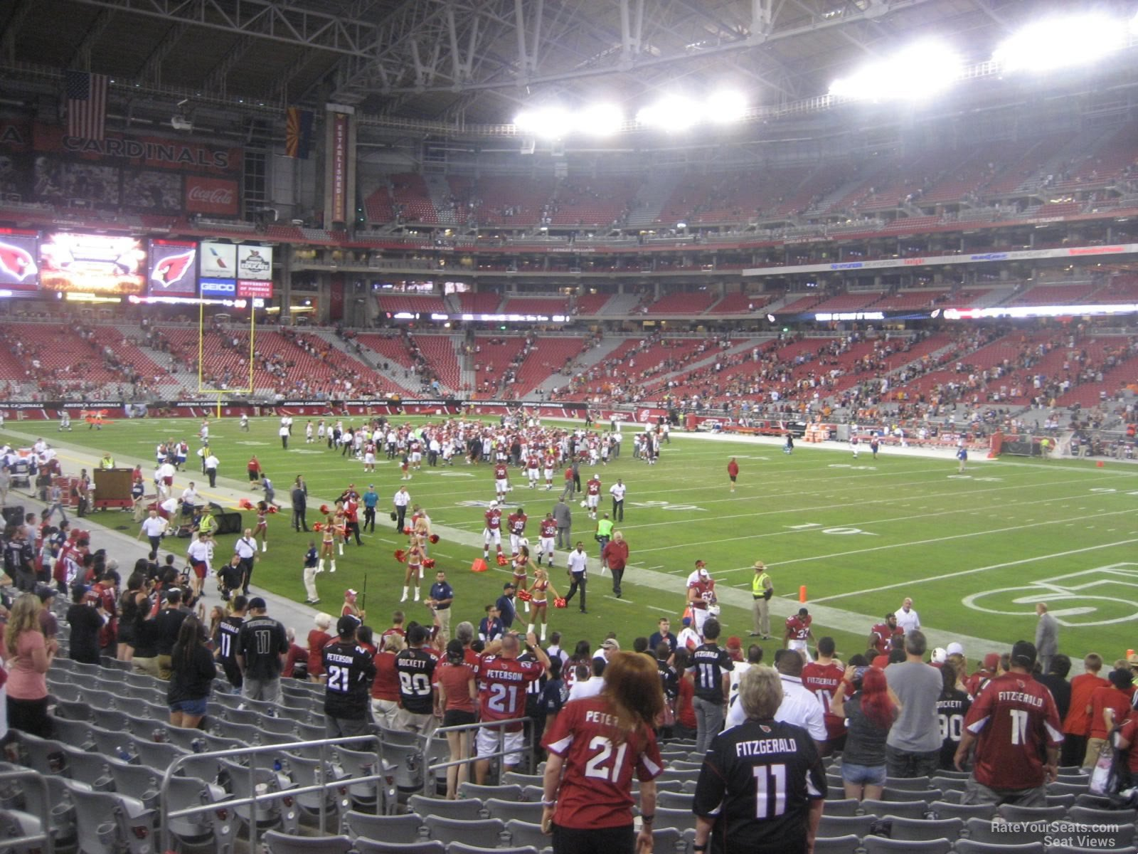 Section 102, Row 20