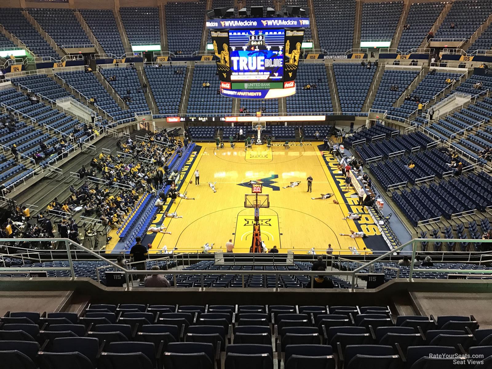 WVU Coliseum Section 221 - RateYourSeats.com